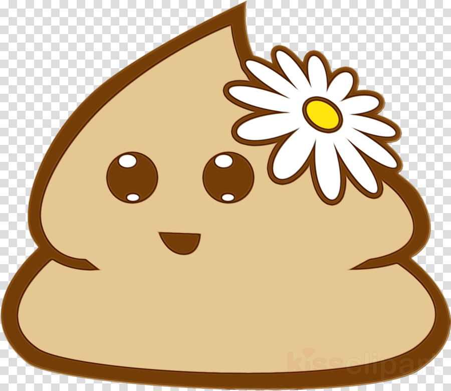 cartoon brown plant smile
