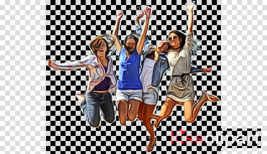 jumping cheering fun youth happy