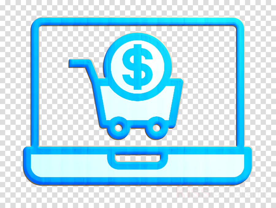 Payment icon Shopping cart icon Laptop icon