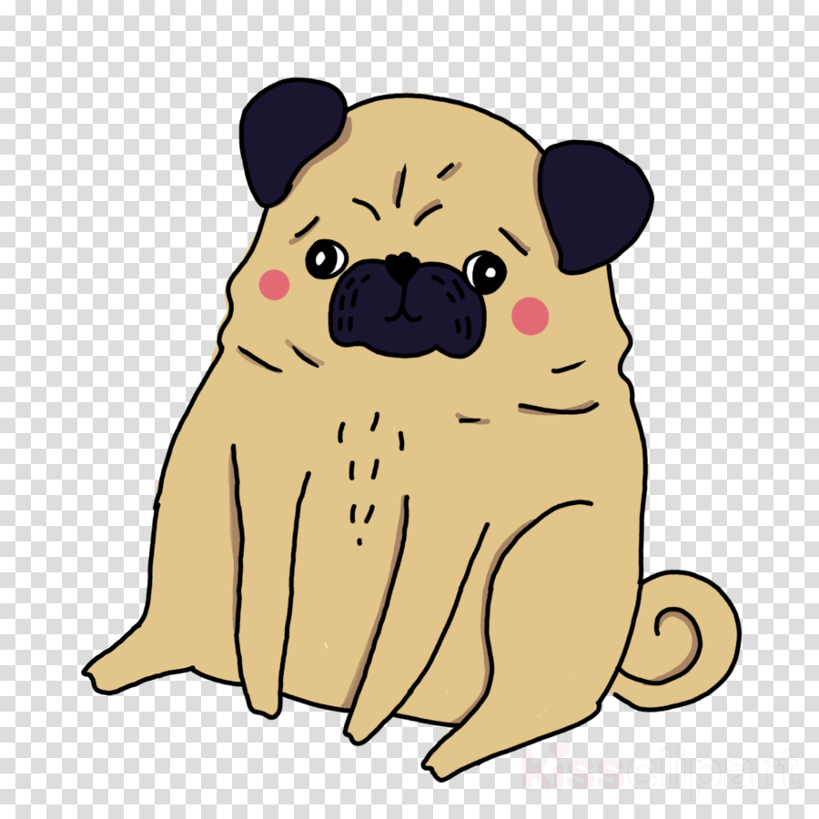 pug puppy snake - sticker toy dog