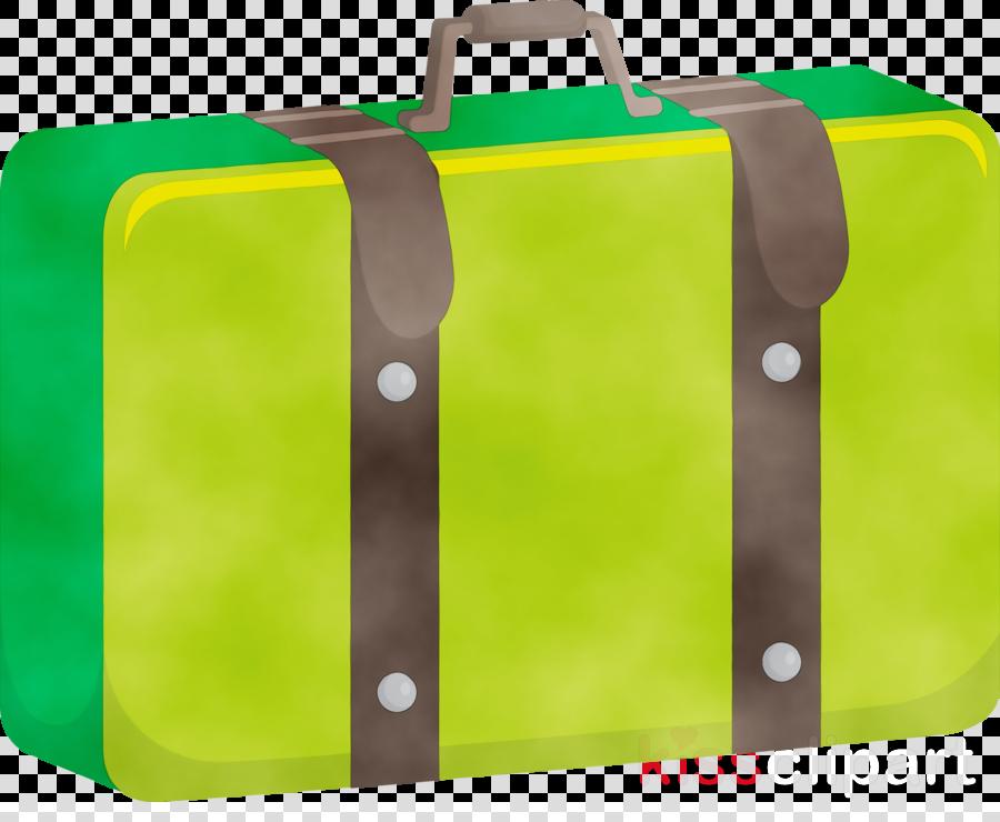 hand luggage baggage bag green hand