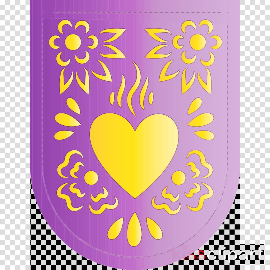 petal yellow area line heart