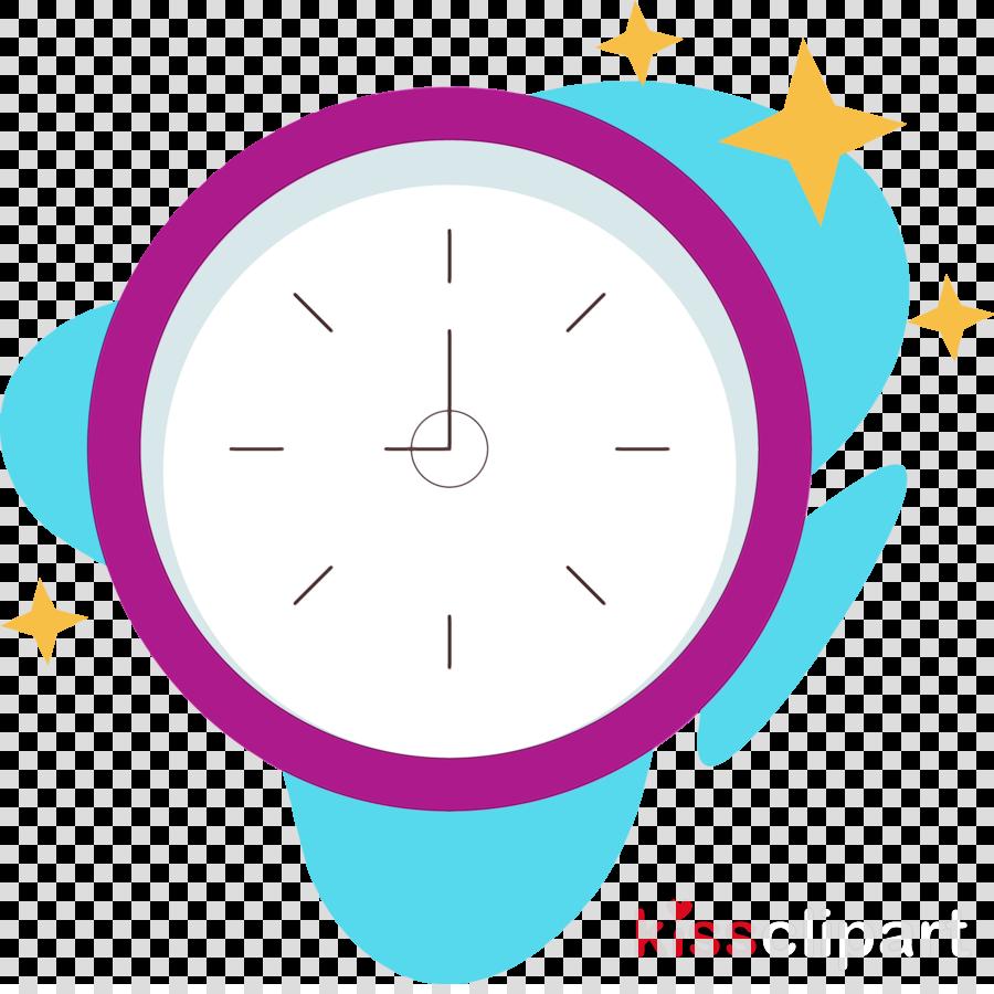 circle area purple clock meter