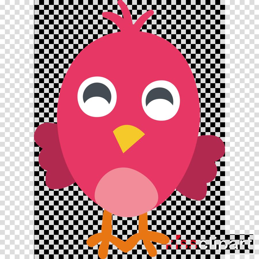 beak chicken cartoon pink m line