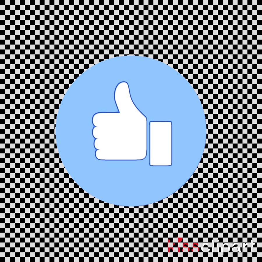 logo icon hand font blue