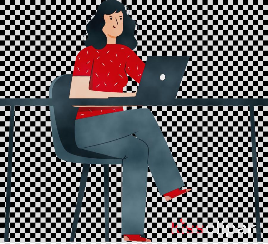 cartoon font line chair job