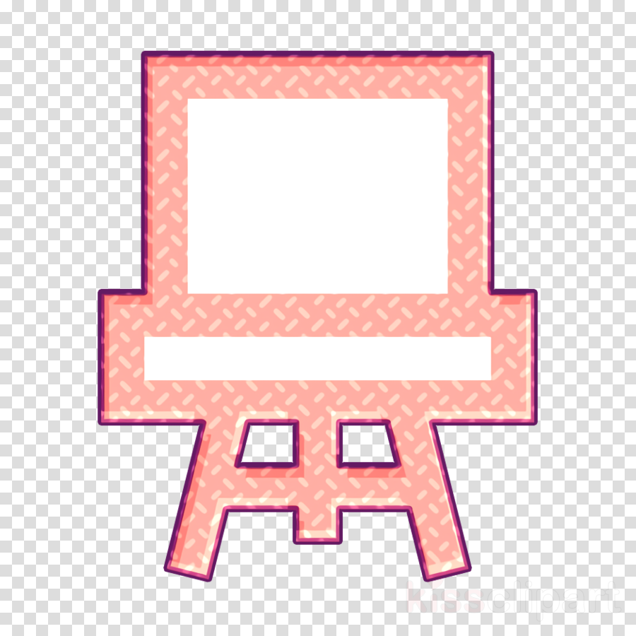 Canvas icon Art lessons icon School icon
