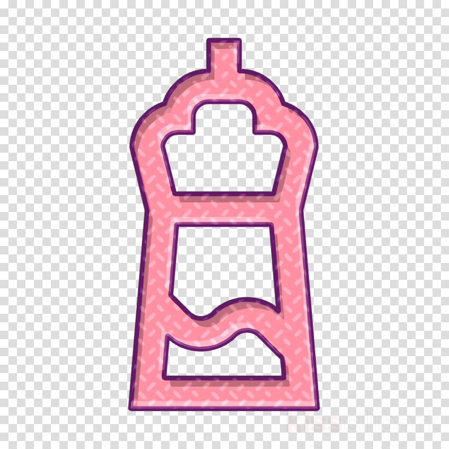 Water bottle icon Food and restaurant icon Fencing icon
