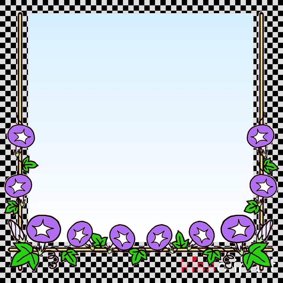 flower frame school frame Kindergarten frame