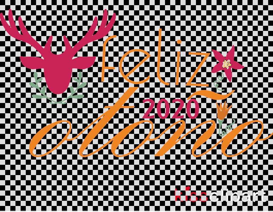 Feliz Otono Happy Fall Happy Autumn Clipart Deer Logo Antler Transparent Clip Art