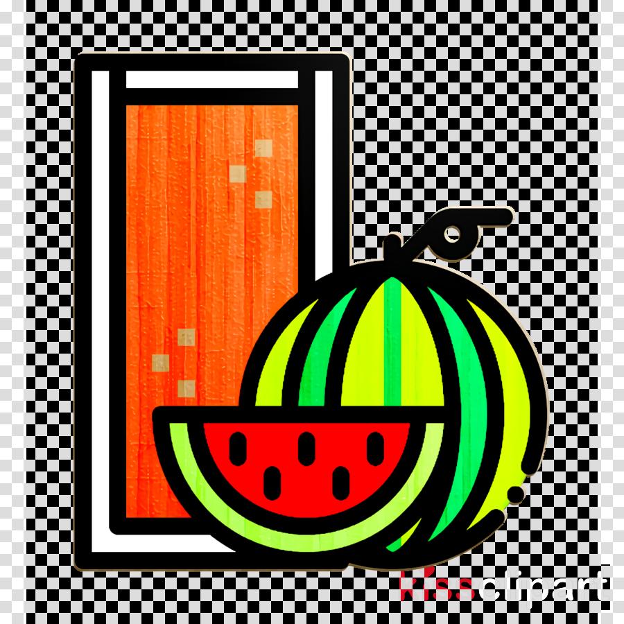 Watermelon icon Watermelon juice icon Beverage icon