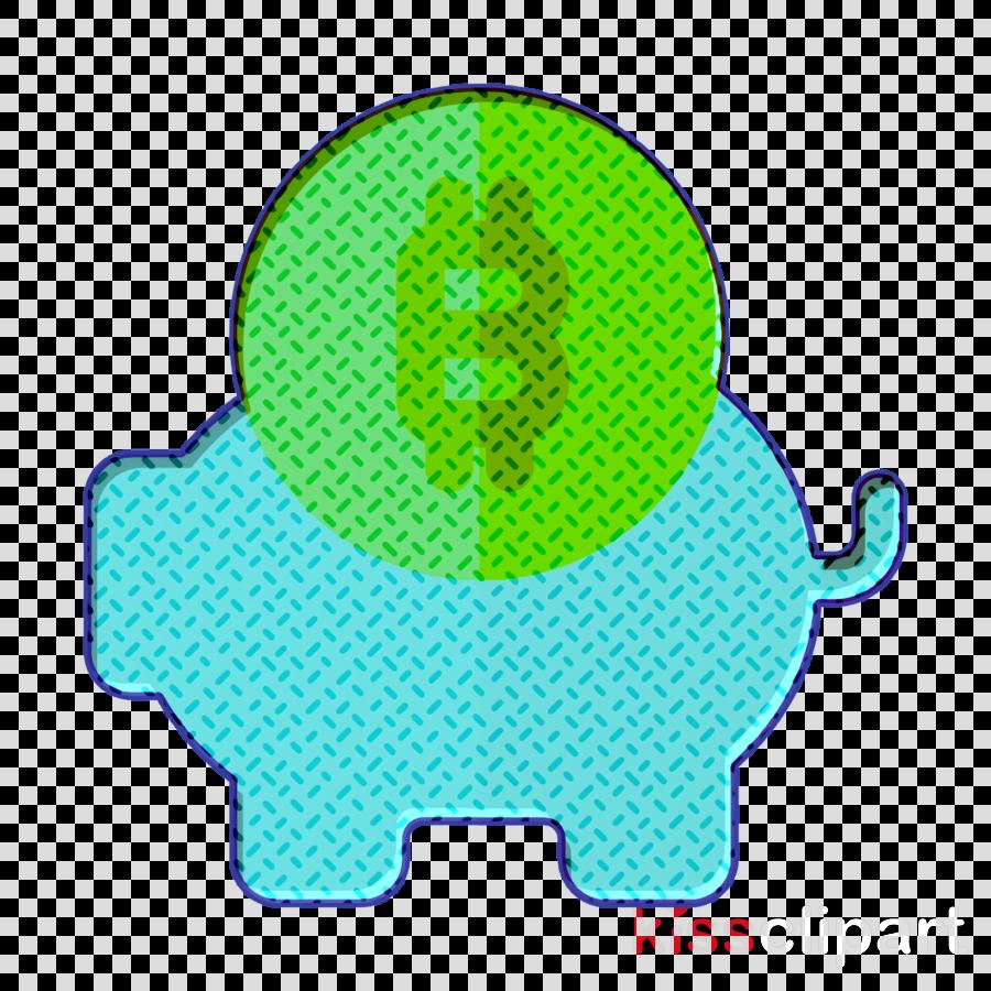 Piggy bank icon Cryptocurrency icon Bitcoin icon