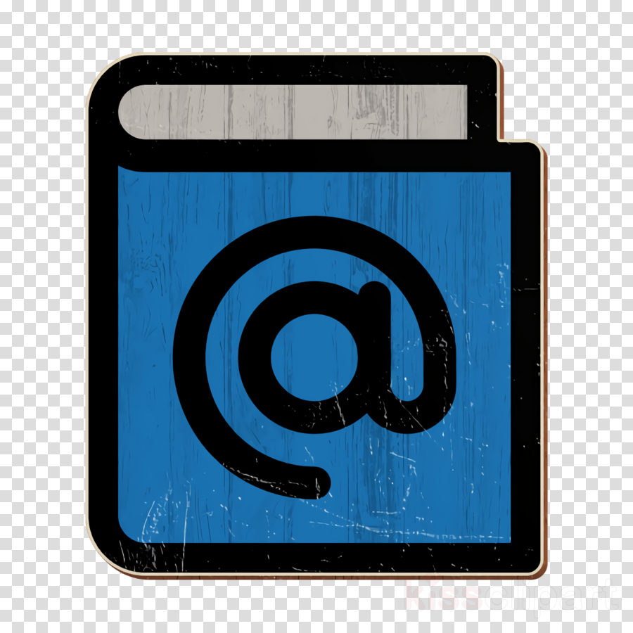 Address book icon Agenda icon Email icon
