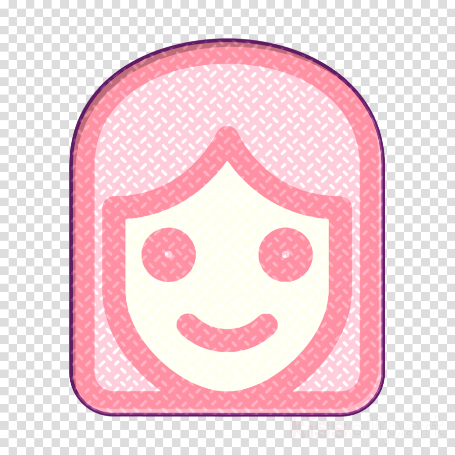 Girl icon Smiley and people icon Emoji icon