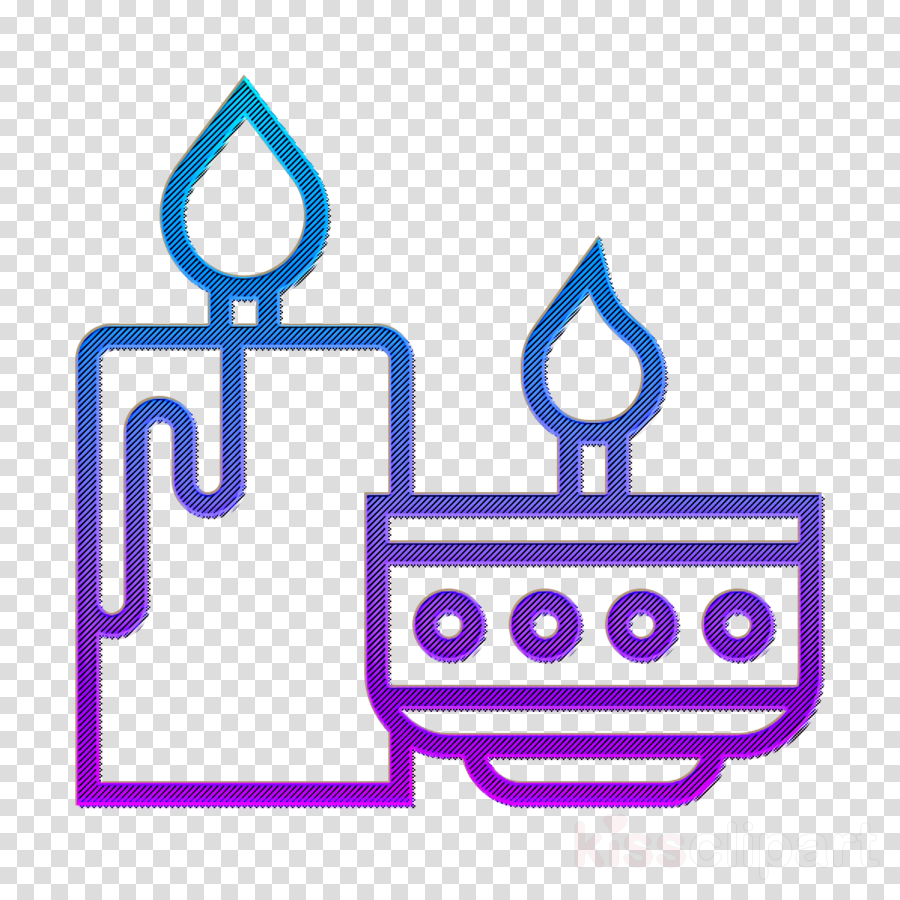 Candle icon Party icon Furniture and household icon