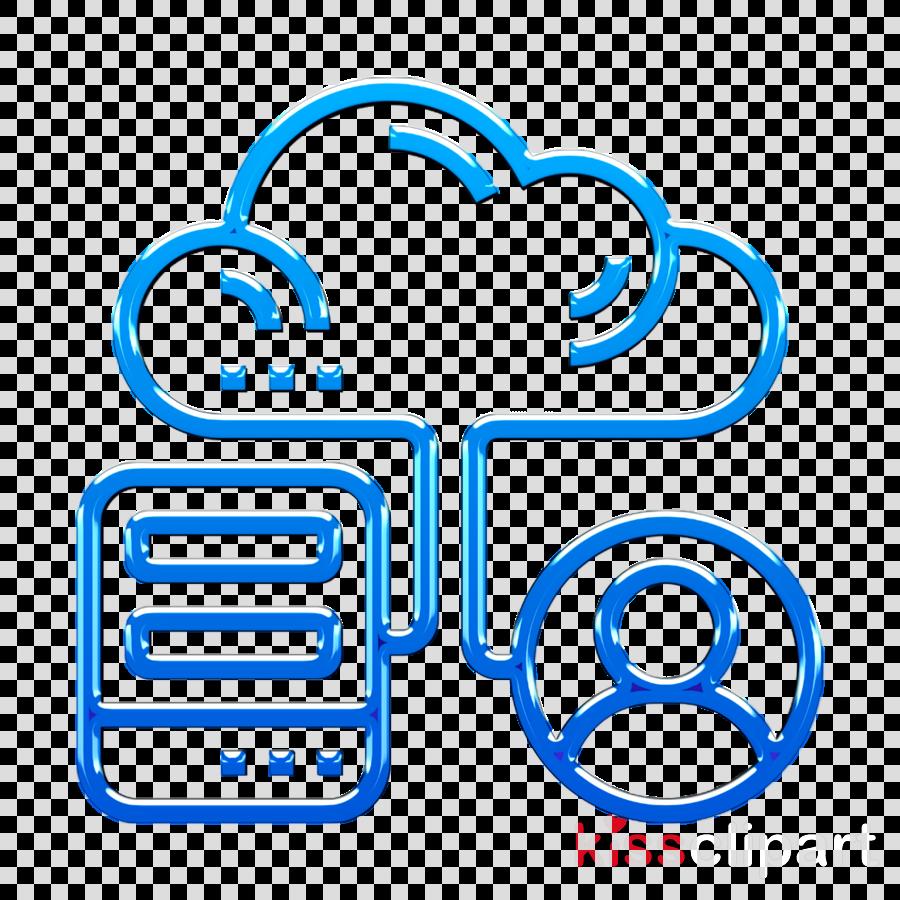 Hybrid icon Cloud icon Cloud Service icon