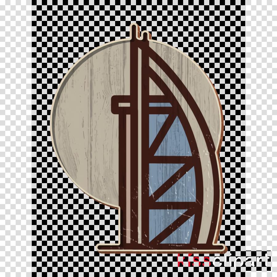 Monuments icon Burj al arab icon Dubai icon