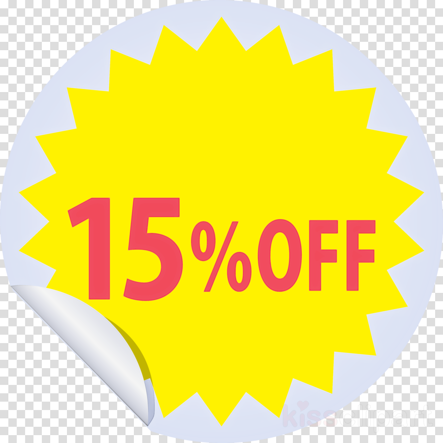 Discount tag with 15% off Discount tag Discount label