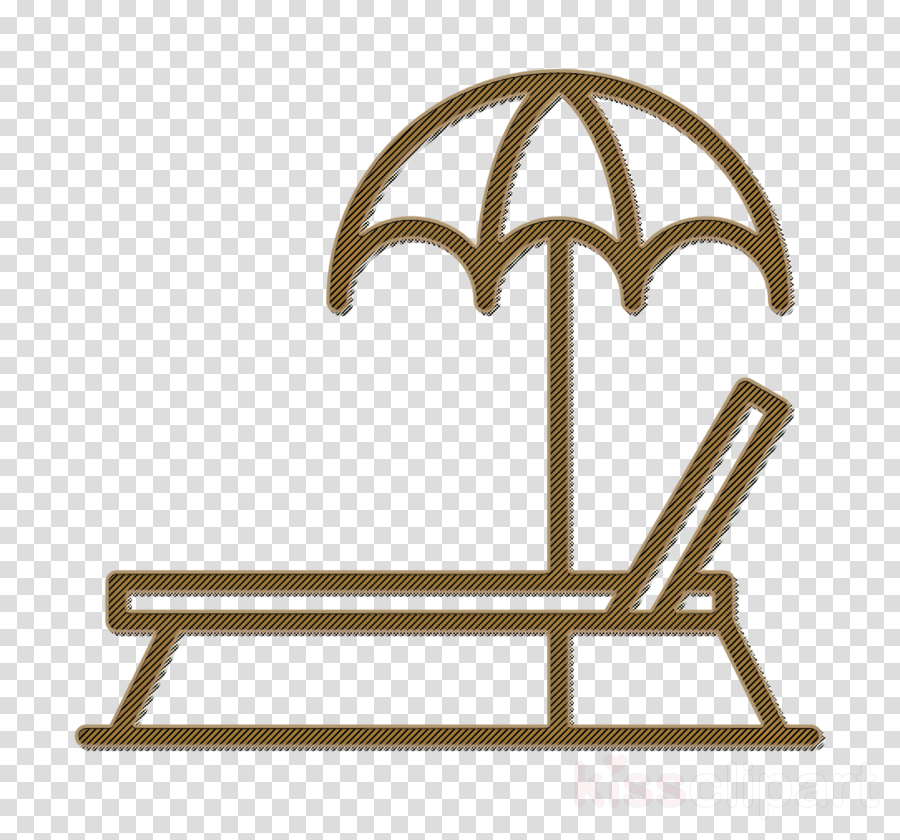 Summer icon Lounge chair icon