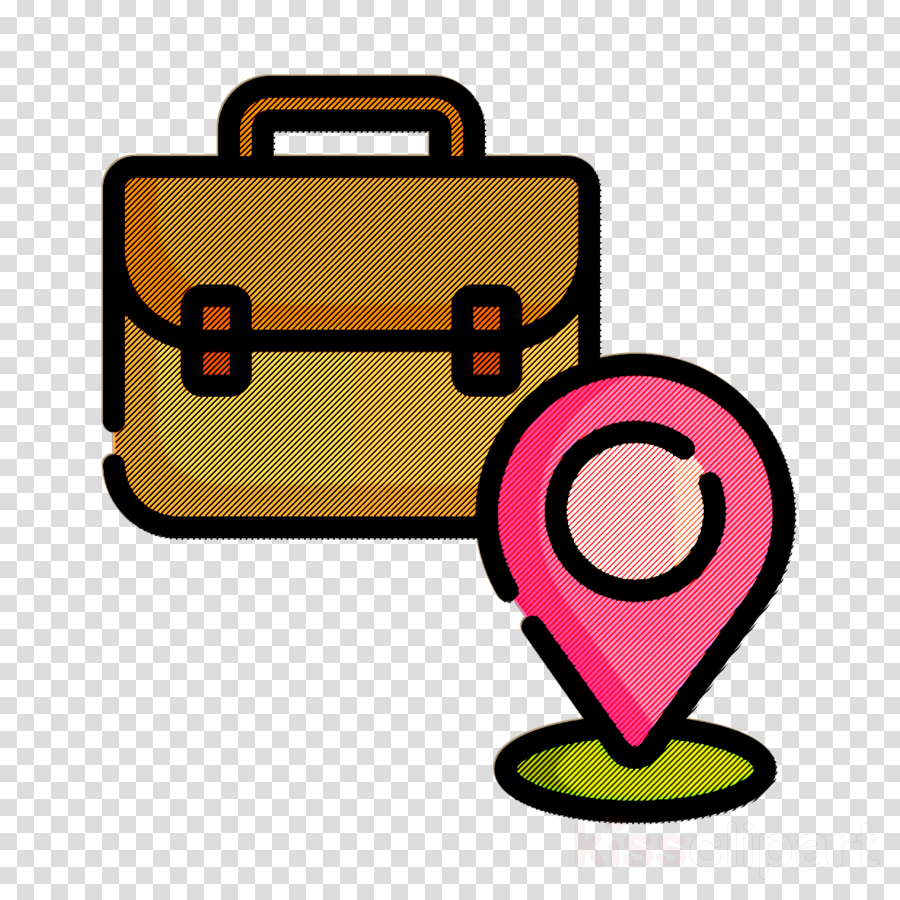 Office icon Maps and location icon Job Resume icon