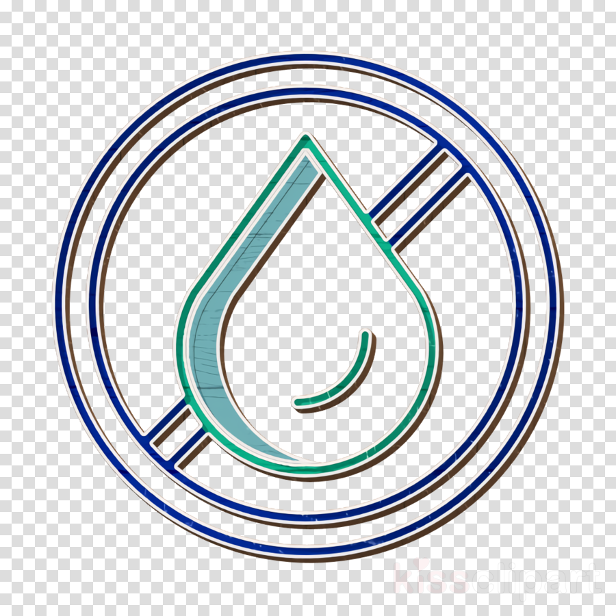 No water icon Water icon Ecology and environment icon