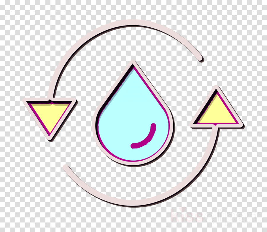 Water cycle icon Water icon