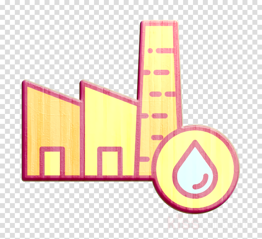 Pollution icon Factory icon Water icon