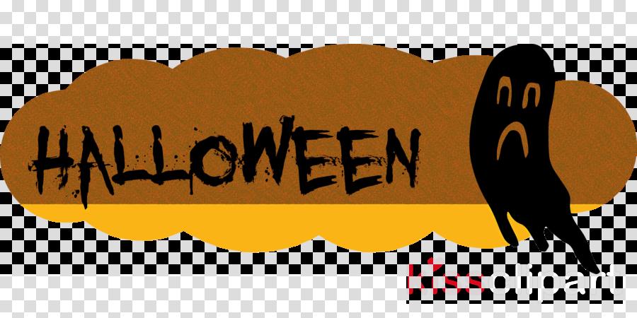 Happy Halloween Clipart Logo Cartoon Yellow Transparent Clip Art