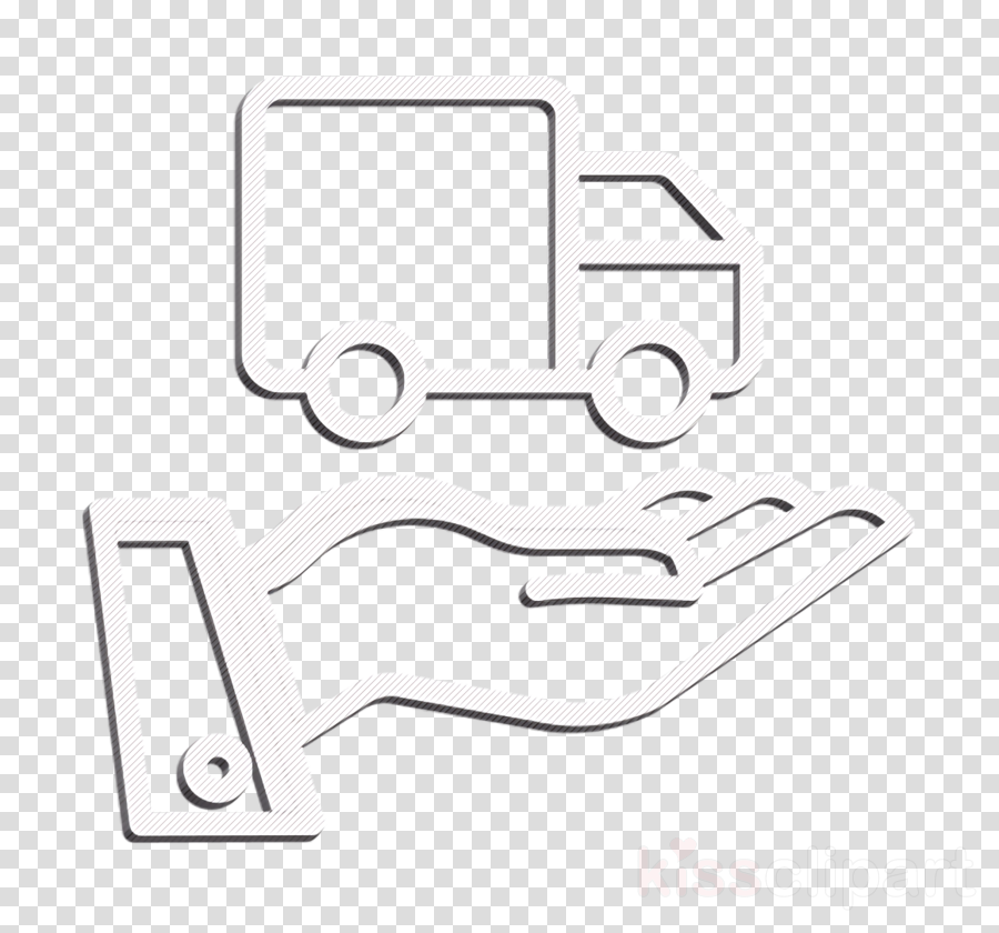 Delivery truck icon Insurance icon Transport icon