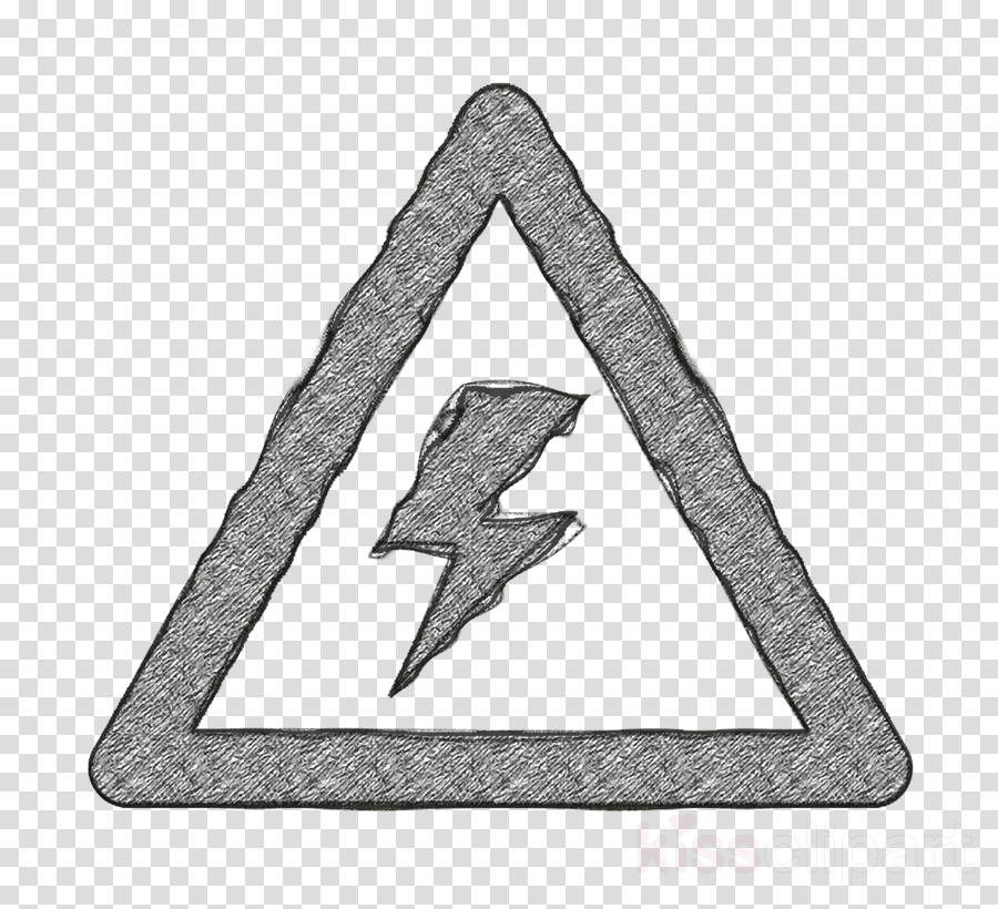 warning voltage sign of a bolt inside a triangle icon Basic Application icon signs icon