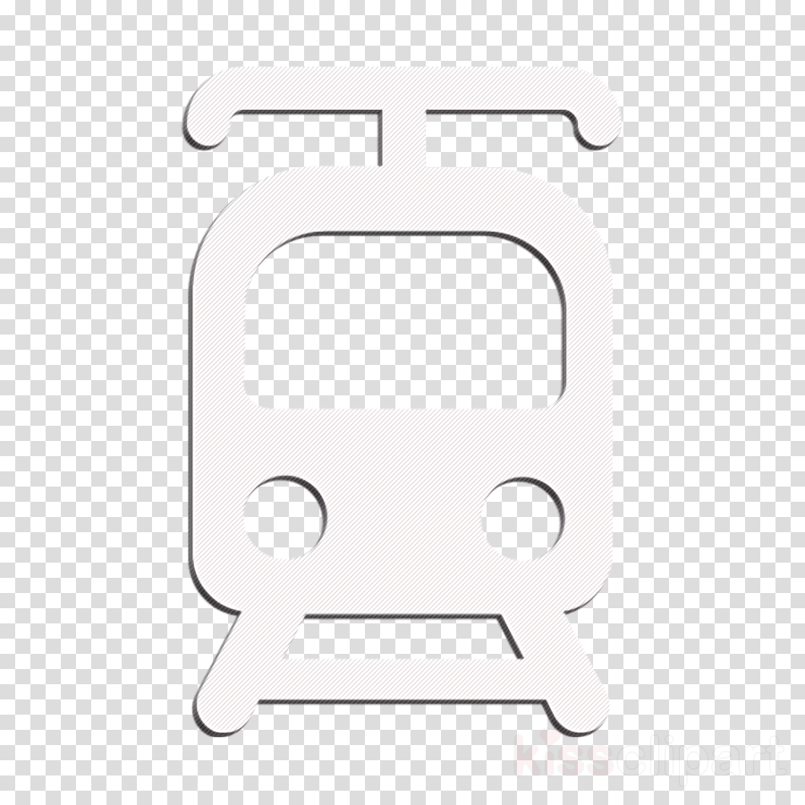 Tram front view icon Ways of transport icon Tramway icon