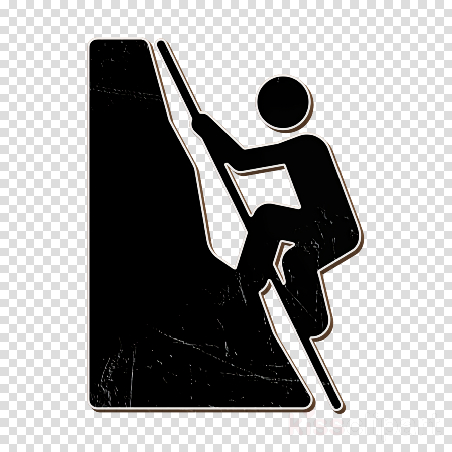 Climbing with rope icon Climb icon Outdoor Activities icon