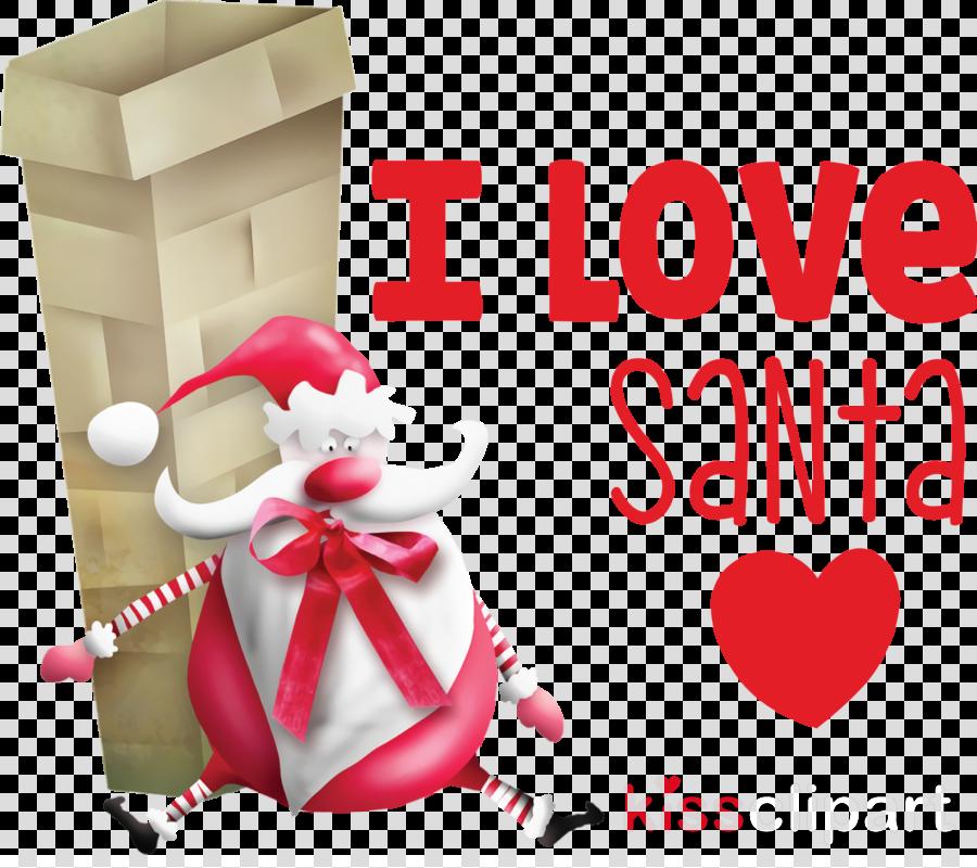 I Love Santa Santa Christmas