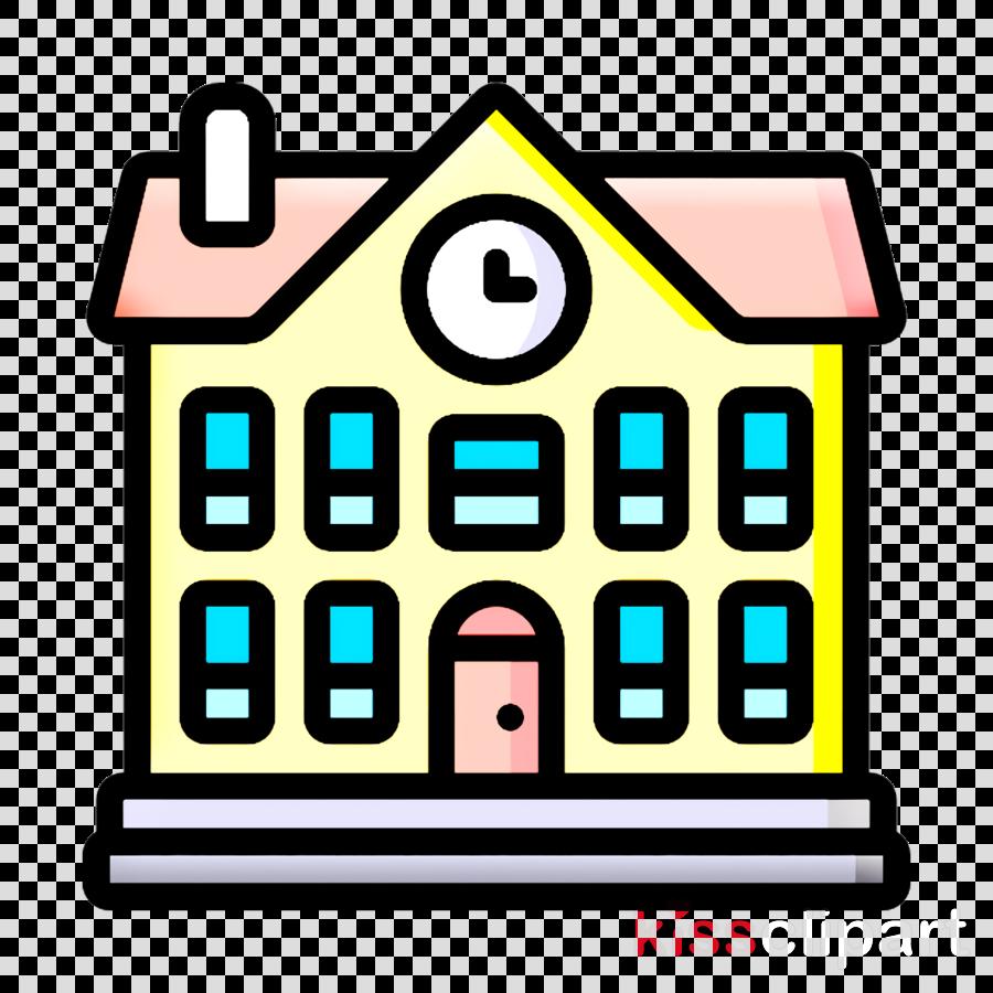 City life icon School icon