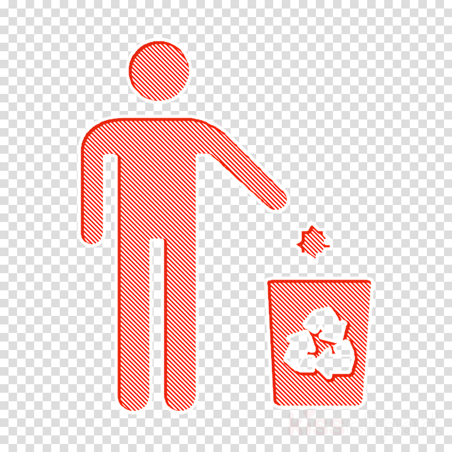 Recycling icon Ecologicons icon people icon
