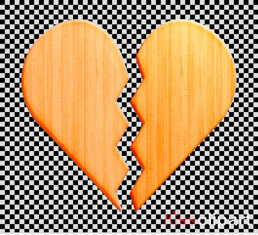 Heartbreak icon Broken heart icon Romance lifestyle icon