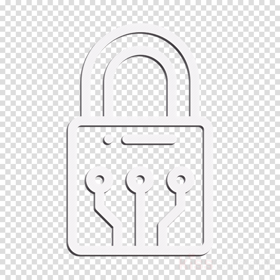 Padlock icon Lock icon Smart Home icon