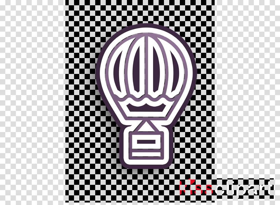 Transportation icon Trip icon Hot air balloon icon
