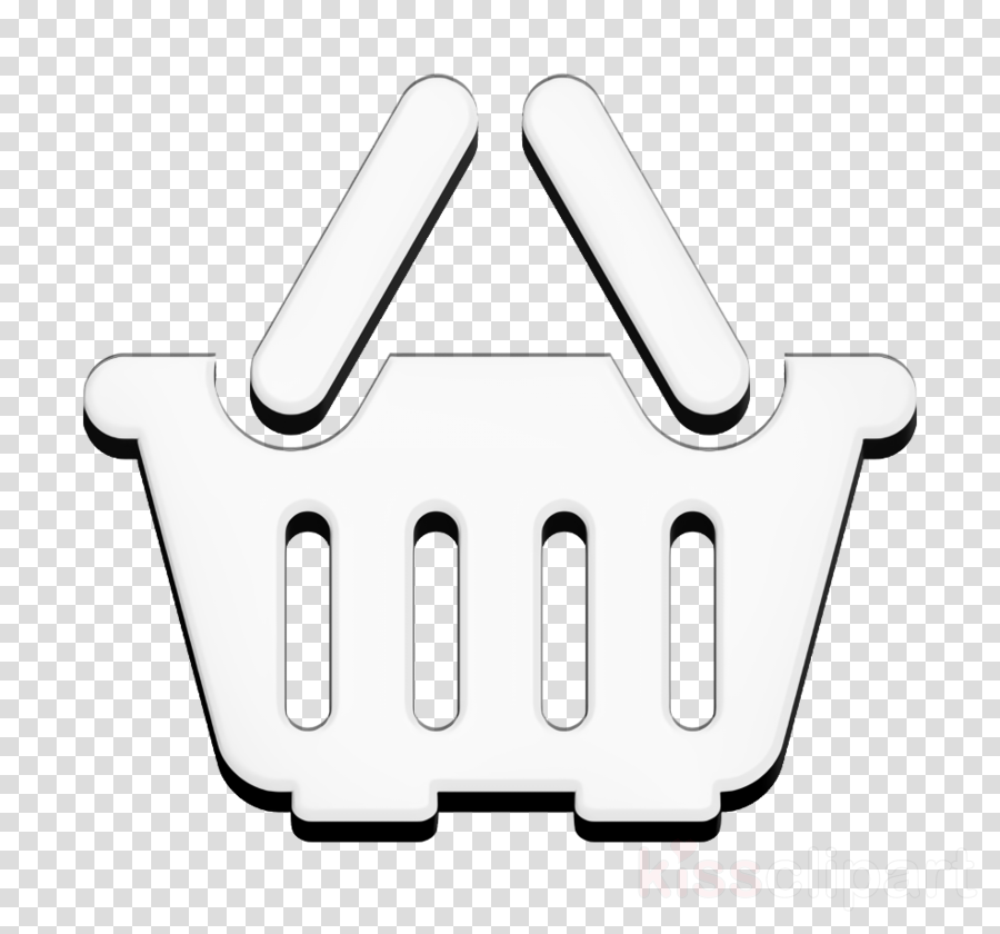 Supermarket icon Empty Shopping basket icon Tools and utensils icon