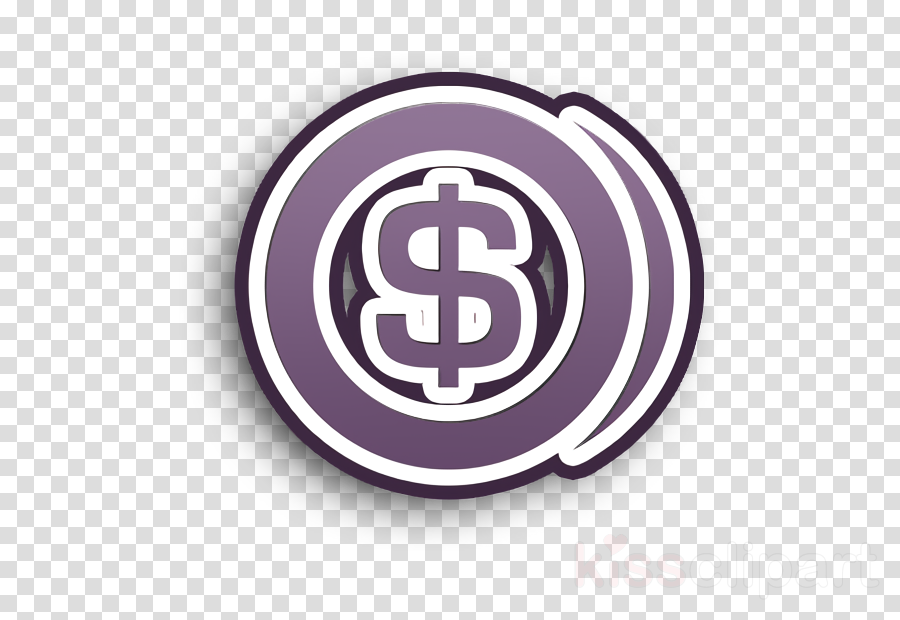 Dollar coin icon Universalicons icon Coin icon