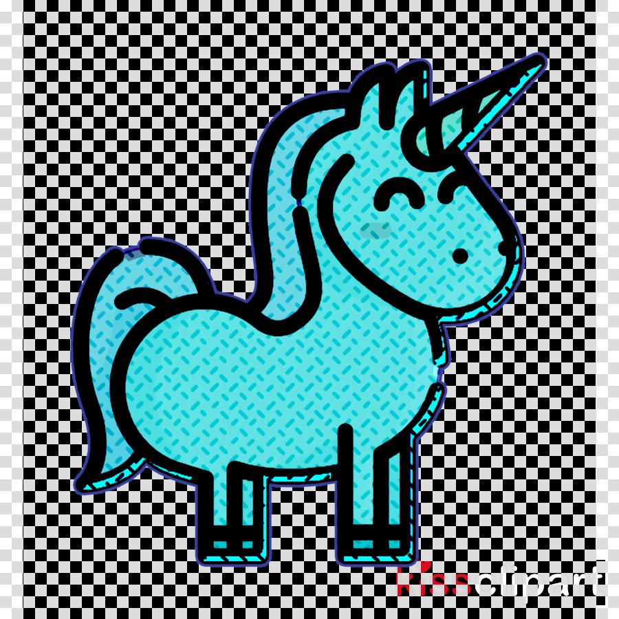 Fantastic characters icon Unicorn icon