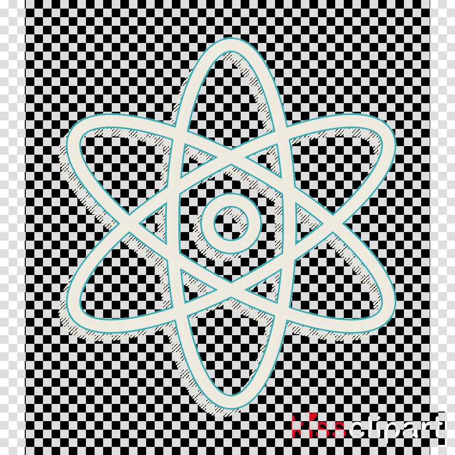 Atom symbol icon education icon Diagram icon