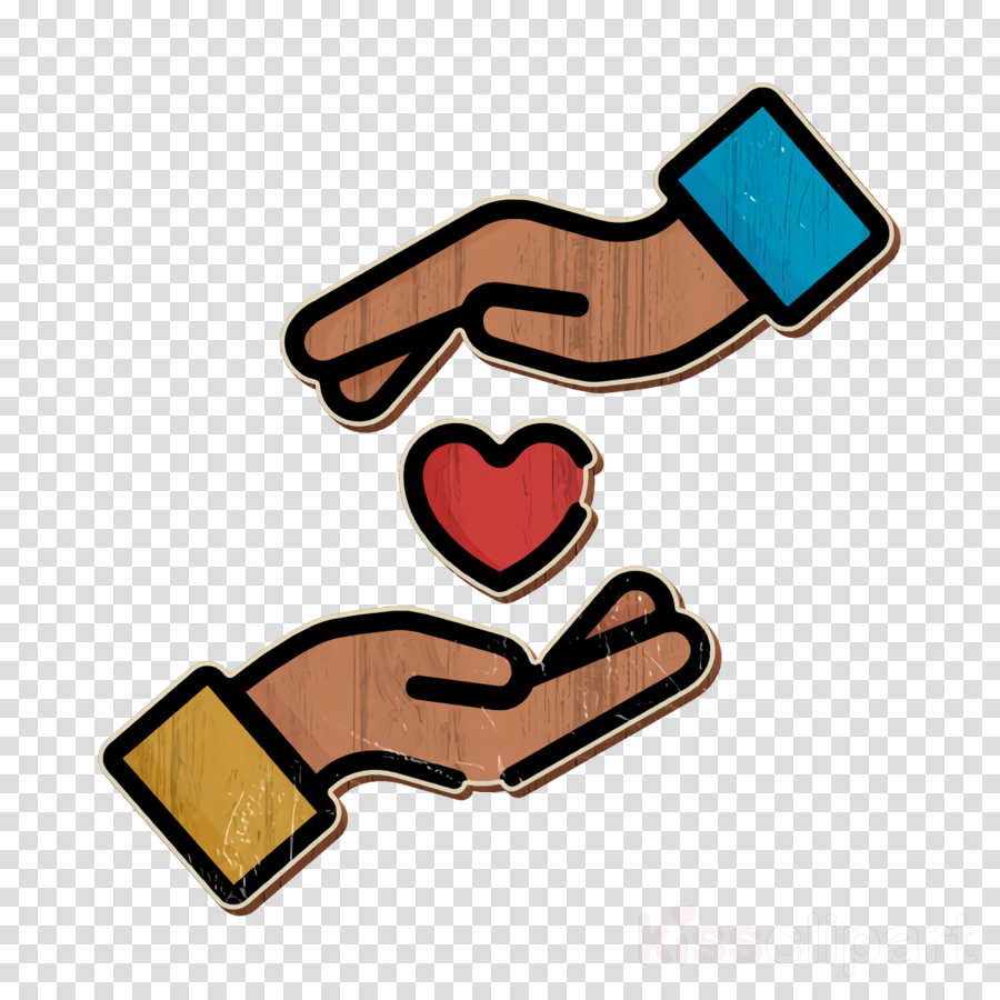 Charity icon Hand icon