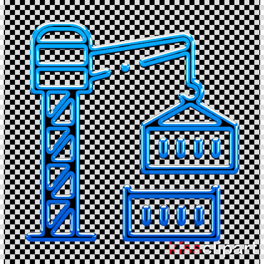 Industry icon Crane icon Container icon