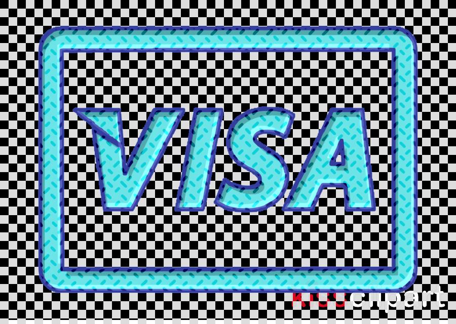 commerce icon Pay icon Visa logo icon