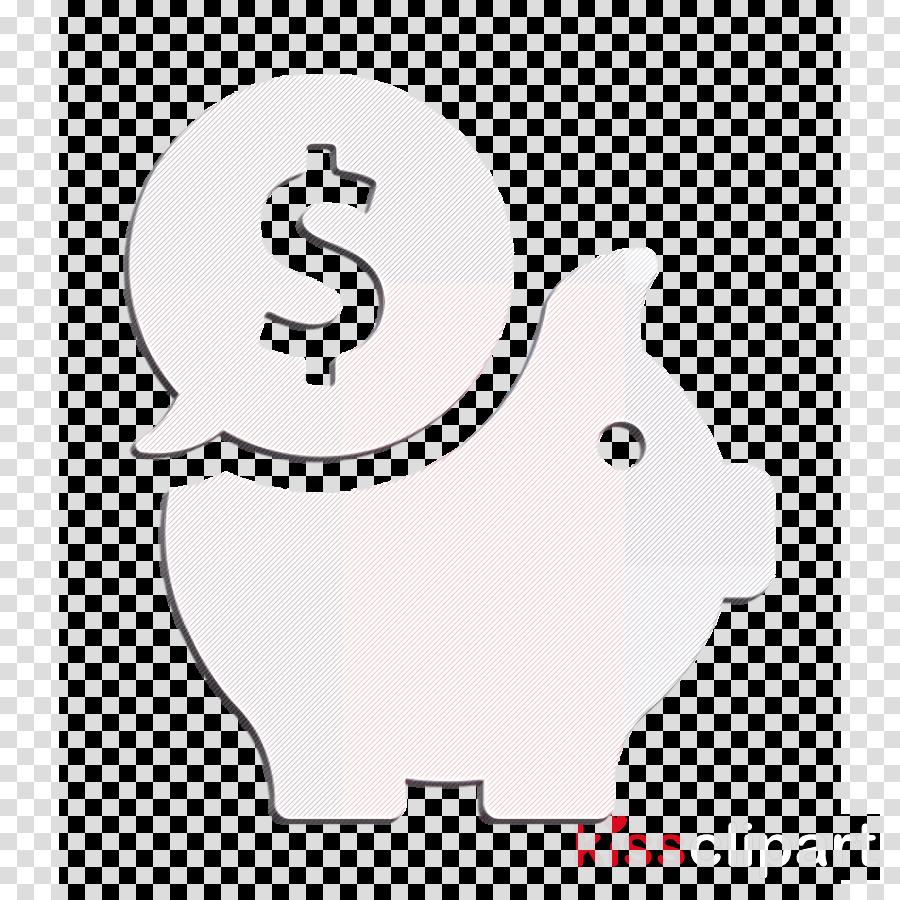 Money icon Piggy bank icon business icon