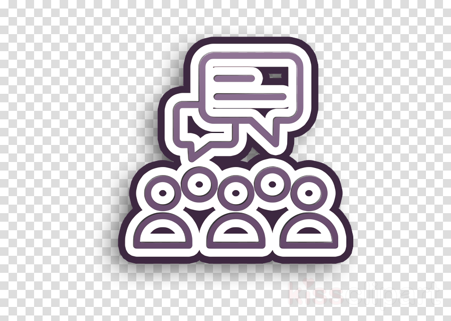 Talk icon User icon Communication icon