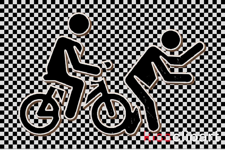 Accident icon Bike icon Insurance Human Pictograms icon