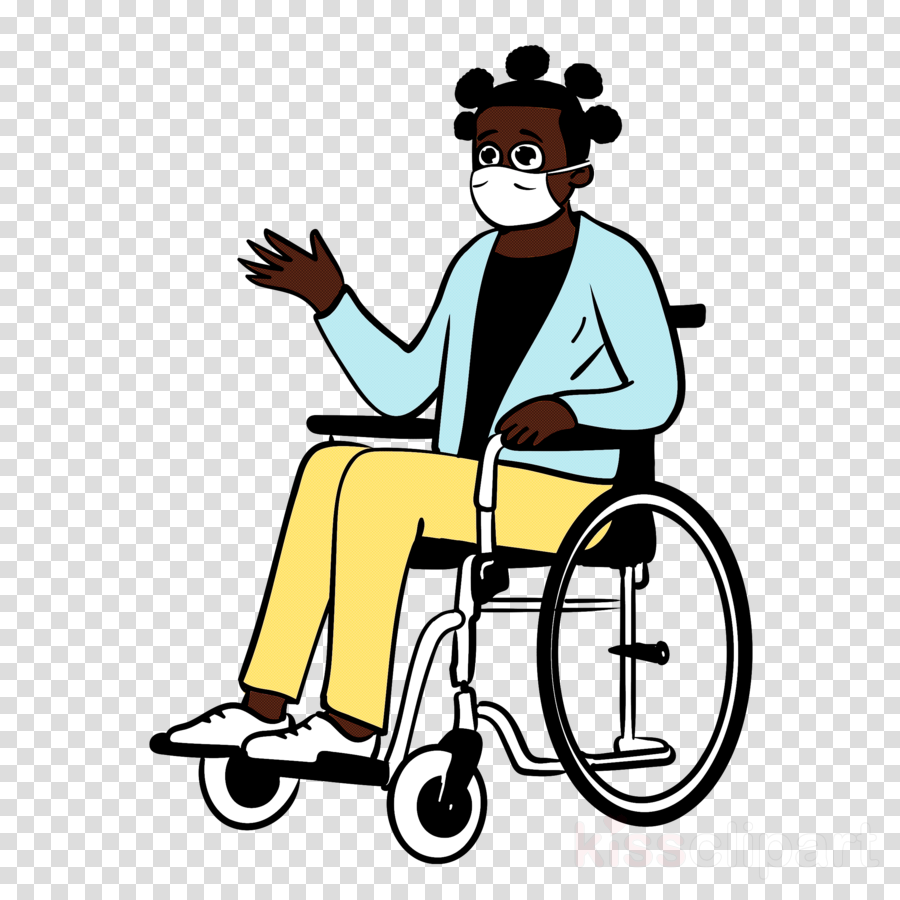 Woman Wheelchair Medical Mask