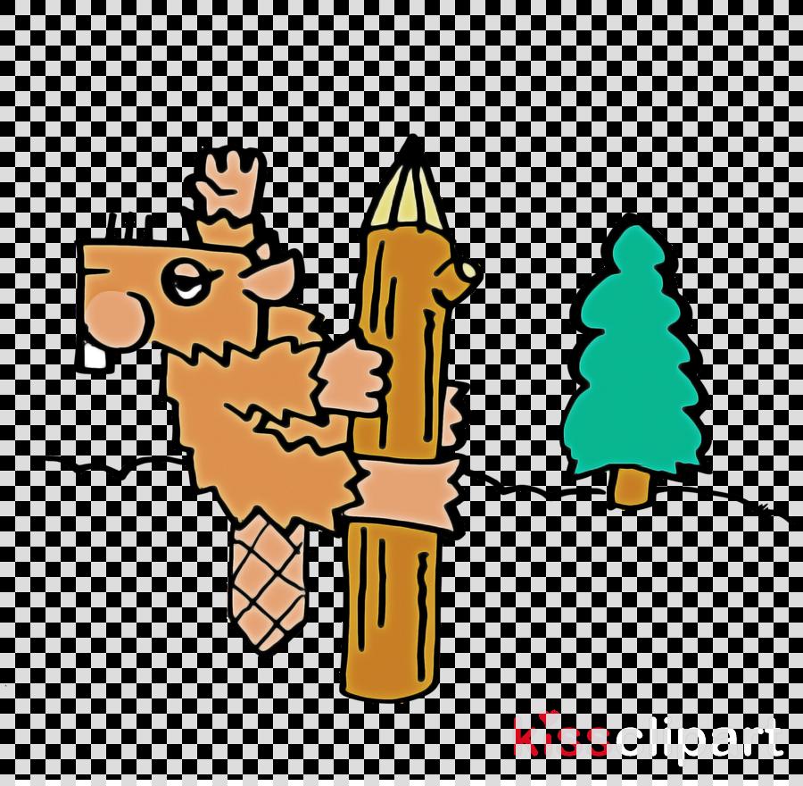 cartoon plant line meter tree